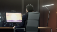 Leorio watching small bill swan