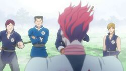 Hisoka confronted by the applicants