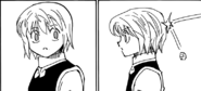 Thrown rock hits Kurapika