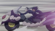 Amane and Canary riding Tsubone