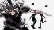 Killua beats the Ortho Siblings