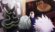 Killua amenaza a Sadaso
