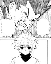 Chap 214 - Killua seeing Gon's frustration