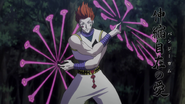 Hisoka using his Bungee Gum