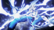 Killua attacks Youpi with his whirlwind