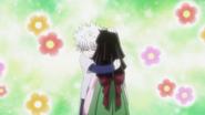 Killua hugging Alluka