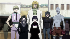 The Phantom Troupe arrive at Meteor City