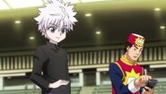 Killua wins a match