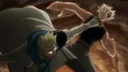 Genthru atacando a Jispa