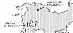 Glam Gas Land's location on the Yorbian map
