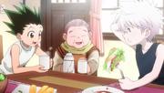 Gon y Killua comiendo
