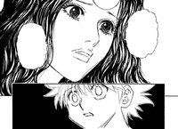 Chap 294 - Palm reminding Killua that Gon needs him most of all