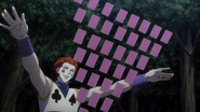Hisoka with his cards