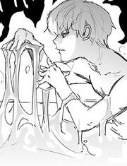 Hisoka creando el Goma Bungee