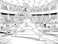Chap 355 - Audience attacks Hisoka