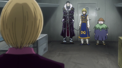 Kurapika states Pakunoda's conditions
