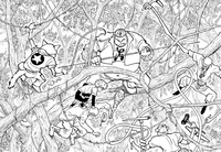 Chap 236 - Killua taking on multiple Chimera Ants