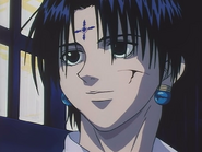 Chrollo removes the bandage