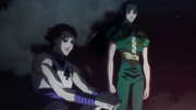 Hisoka charlando con Illumi