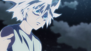 Killua watches as Pouf leaves the battle