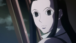 139 - Illumi speaking cheerfully