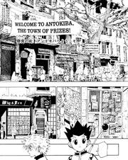 Chap 129 - Gon and Killua reaching Antokiba