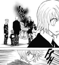 358 - Kurapika senses an aura radiating from Woble's cradle