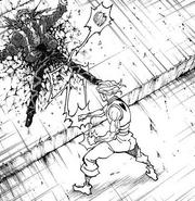 Hisoka kills fake chrollo