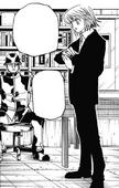 Chapter 349- Kurapika with Mizaistrom after watching Beyond video