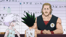 Epis 65 (2011) - Gon and Killua talk to the Trade Shop NPC in Masadora -06.18-