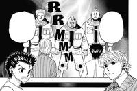 Chap 346 - Beyond's men saying that either Ging or Pariston has to leave