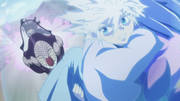 Butlers chasing after Killua