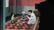 Gon and Killua eat together with Knuckle