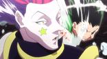 Gon golpea el rostro de Hisoka