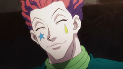Hisoka smiling to Machi