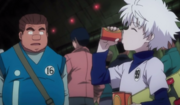 Killua se bebe el jugo de Tonpa