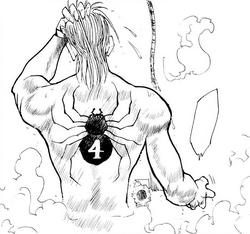 55 - Hisoka's spider tattoo