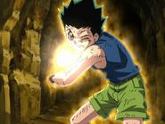 Gon using his final Jajanken Rock