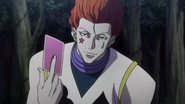 Hisoka shows up against the butlers