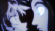 Soull Doll Illumi trying to steal Killua's eyes PR