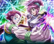 Hisoka and Machi Kira Card