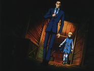 Leorio and Kurapika preparing to duel