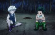 Killua y Gon hablando