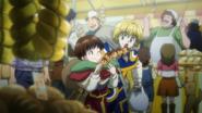 Pairo and Kurapika with food
