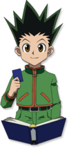 Gon holding G.I card