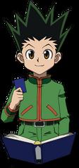 Gon holding G.I card