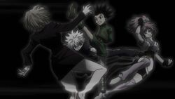 Killua and Gon attacks Machi and Paku