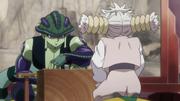 Meruem y Komugi jugando Gungi