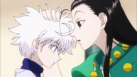 Illumi and killua in the hunter exam