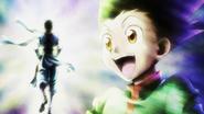 Final scene from Hunter x Hunter 2011 anime adaptation